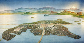 Pic 2: Tenochtitlan at the heart of the Basin of Mexico