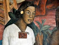 An Aztec girl, from a Diego Rivera mural