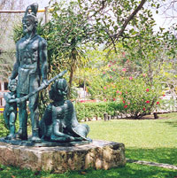 Pic 2: Statue to Gonzalo Guerrero, Akumal, Mexico