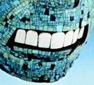 The teeth in one of the British Museum's Aztec turquoise mosaic masks