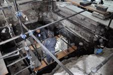 Fig 3: Excavaciones en el Templo Mayor en el año 2010