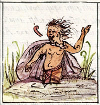 Pic 3: Drunkard born on 2 Rabbit, Florentine Codex Book 4, chapters 4-5