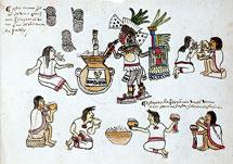 Pic 7: Aztec pulque ritual, Codex Magliabechiano, folio 85r