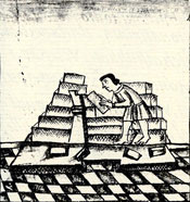 Pic 4: Pyramid construction, Florentine Codex Book 11