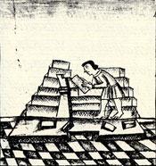 Pic 4: Pyramid construction, Florentine Codex Book 11