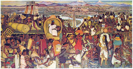 Pic 2: 'La gran ciudad de Tenochtitlan', mural by Diego Rivera, Palacio Nacional, Mexico City