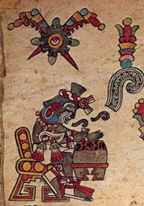 Pic 4: Macuilxochitl, God of music, songs and flowers, Codex Borbonicus