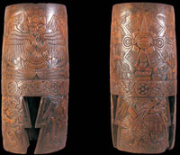 Pic 6: Wooden 'huehuetl' drum from Malinalco