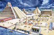 Pic 9: Artist's impression of the city of Tenochtitlan