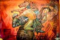 Pic 1: 'The fusion of two cultures', mural by Jorge González Camarena, Chapultepec Castle