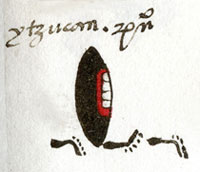 Pic 5: The place glyph for Ytzucan, 'Place of Obsidian', Codex Mendoza fol. 42r