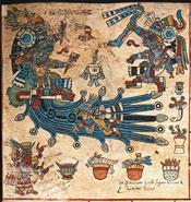 Pic 3: The rain god Tlaloc, Codex Borbonicus