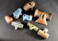 Pic 5: Copies of ceramic Aztec whistles