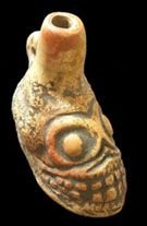 Pic 6: Copy of an Aztec 'death whistle', blown to imitate wind at its most powerful