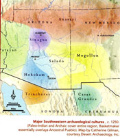 Pic 12: Map of Prehistoric SW Culture Areas