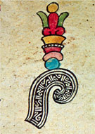 Pic 2: This glyph from the Codex Borbonicus connects flower and speech, two of the most common motifs in Nahuatl poetry