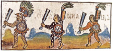 Pic 5: Nahua warriors pictured in the Florentine Codex