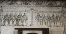 """Pic 7: A fresco painting of the """"first twelve"""" Franciscans to arrive in Mexico"""
