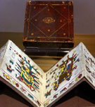 The original Codex Laud, with box, on display at the Bodleian Library, Oxford, 2016
