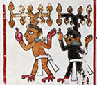 Pic 8: Sacred tree spirits, Codex Vindobonensis, fol. 50, detail