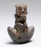 Pic 6: Pre-Hispanic Gayraca style ceramic ocarina, Tairona culture, Sierra Nevada de Santa Marta, Colombia