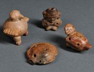 Pic 9: Four pre-Columbian ocarinas