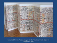 Pic 4: Screenfold format of codices