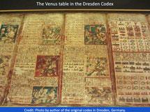 Pic 6: The Venus table, Dresden Codex