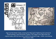 Pic 9: Detail from a page of the Grolier Codex (Códice Maya de Mexico)