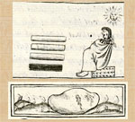 Pic 2: 'Toltec [glossy dark blue-green] obsidian' (the highest quality) (top); the 'bloodstone' (bottom). Florentine Codex Book 11