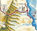The route from Veracruz. Illustration by Miguel Covarrubias