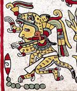 Pic 4: A Mixtec ceremonial jaguar costume. Codex Zouche-Nuttall pl. 32