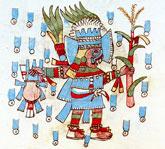 Pic 9: Tlaloque (rain priest), Codex Vaticanus A pl. 50 (detail)