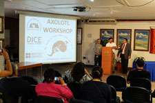 Pic 11: A multi-agency international workshop in Mexico (2014) on the axolotl,