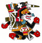 Pic 13: Xolotl - illustration by Miguel Covarrubias, from the Codex Borgia pl. 10