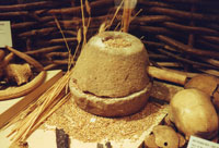 Pic 6: Iron Age beehive quern from Hunsbury Hillfort in Northampton Museum