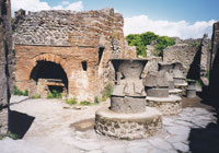 Pic 8: Animal powered mills at a bakery in Pompeii, Italy