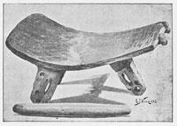 Pic 11: Metate with three ornamental legs (Bennett & Elton 1898, 75)