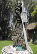 Pic 2: 'La Llorona' carved out of wood