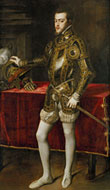 Pic 9: Portrait of King Philip II of Spain in armour, 1551, Museo del Prado, Madrid