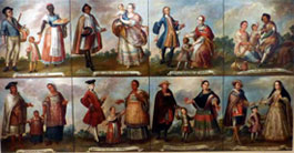 Pic 10: A series of 18th century oil paintings depicting scenes of 'mestizaje' in colonial Mexico, Museo de América, Madrid