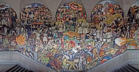 Pic 13: Mural painting by Diego Rivera 'Epopeya del pueblo mexicano', Palacio Nacional, Mexico City