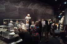 Pic 2: Teachers on a guided tour of the 'Azteken' exhibition