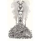 The burning of Qualpopoca; 'The Conquest of Mexico' (Prescott/Henderson)