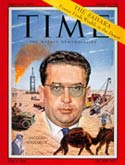 Jacques Soustelle on the cover of Time Magazine, 1959