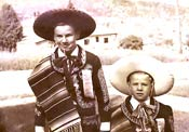 John Schwaller (right) with brother Henry in Mexico, 1956