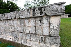 Pic 4: The tzompantli at Chichén