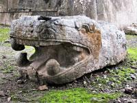 Pic 9: Serpent head at Tenayuca