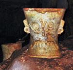 Pic 14: Tlaloc bi-conical ceramic censer - Balamkanché