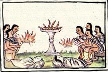 Pic 3: Ritual fire; Florentine Codex Book II